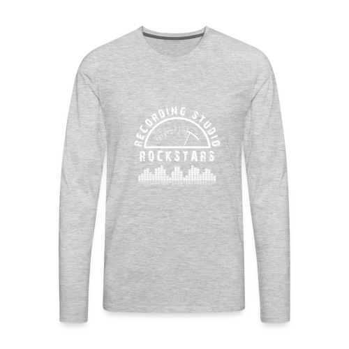 Recording Studio Rockstars - White Logo - Men's Premium Long Sleeve T-Shirt