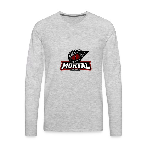 Mortal Esports Full Logo Design (Black) - Men's Premium Long Sleeve T-Shirt