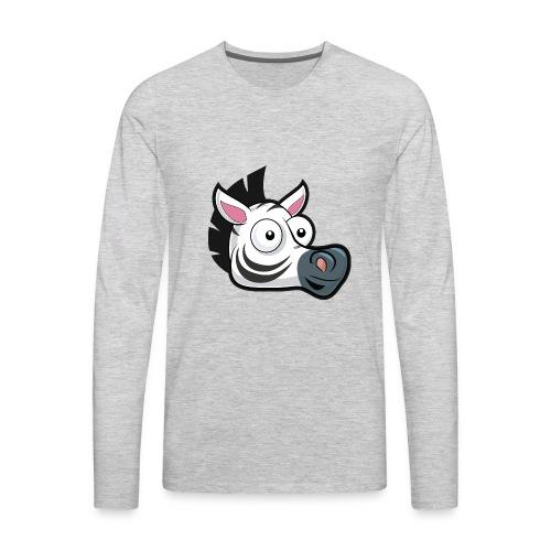 AppZebra Logo - Men's Premium Long Sleeve T-Shirt
