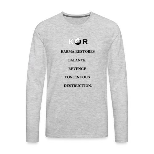 Balance & Destruction - Men's Premium Long Sleeve T-Shirt