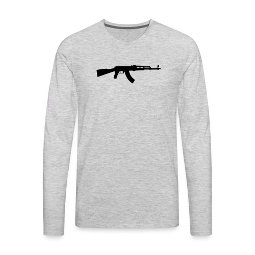 ak 47 one gun - Men's Premium Long Sleeve T-Shirt