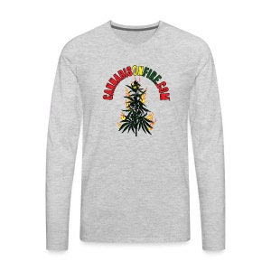 Cannabis On Fire T-Shirt 420 Cannabis Wear 2017 - Men's Premium Long Sleeve T-Shirt
