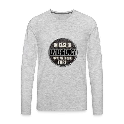 case record - Men's Premium Long Sleeve T-Shirt