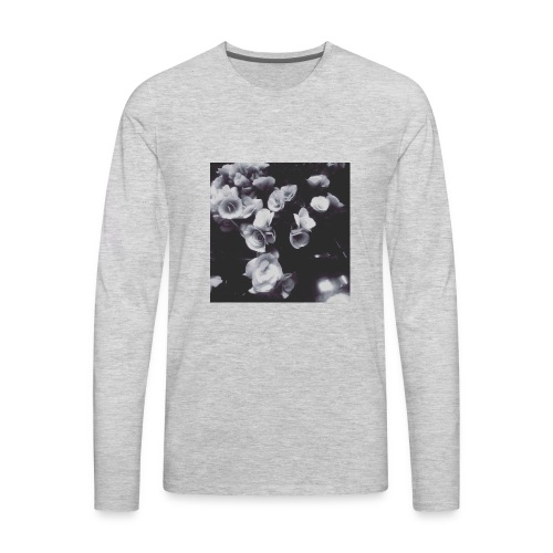 the roses have not been painted red...yet - Men's Premium Long Sleeve T-Shirt