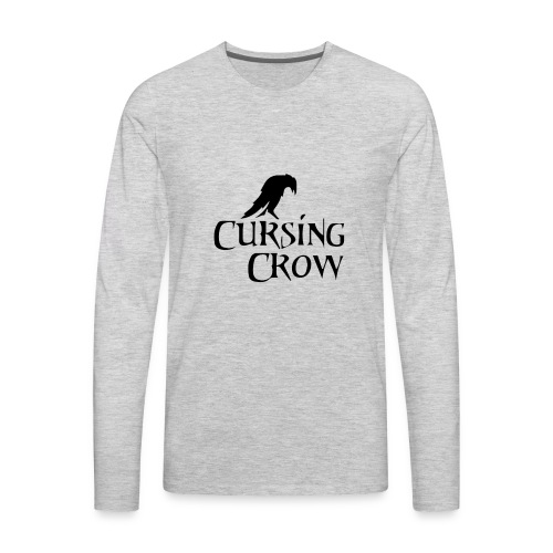 Cursing Crow Logo - Men's Premium Long Sleeve T-Shirt