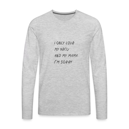 Gods Plan on HBCUs - Men's Premium Long Sleeve T-Shirt
