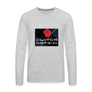 clutchnation logo merch - Men's Premium Long Sleeve T-Shirt