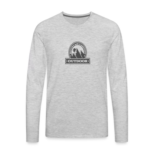 OUTDOOR MOUNTAIN CAMPING Motivational - Men's Premium Long Sleeve T-Shirt