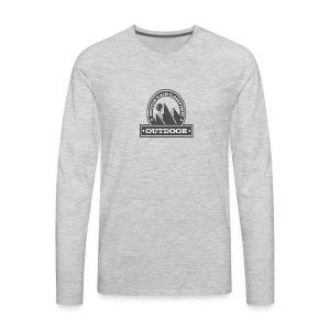 OUTDOOR MOUNTAIN CAMPING Motivational - Men's Premium Long Sleeve T-Shirt