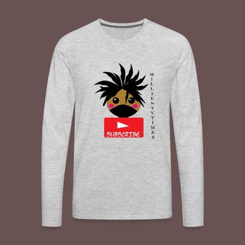 MilliesTVTime2 Subscribe - Men's Premium Long Sleeve T-Shirt