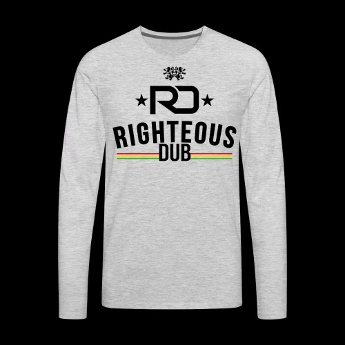 Righteous Dub Logo - Men's Premium Long Sleeve T-Shirt