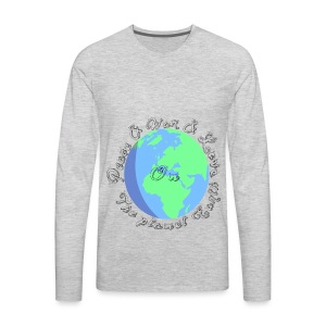 Peace and war and love on the planet earth - Men's Premium Long Sleeve T-Shirt