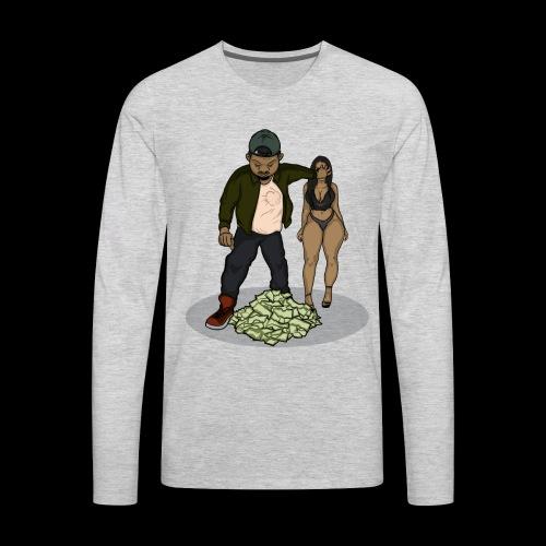 No Love But Money - Men's Premium Long Sleeve T-Shirt
