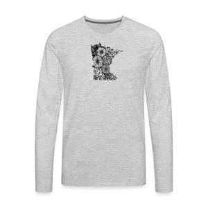 MINNESOTA MN WILDFLOWER - Men's Premium Long Sleeve T-Shirt