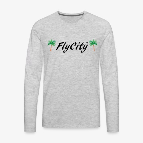 FLYCITY Logo - Men's Premium Long Sleeve T-Shirt