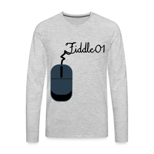 Fiddle01 Mouse Design - Men's Premium Long Sleeve T-Shirt