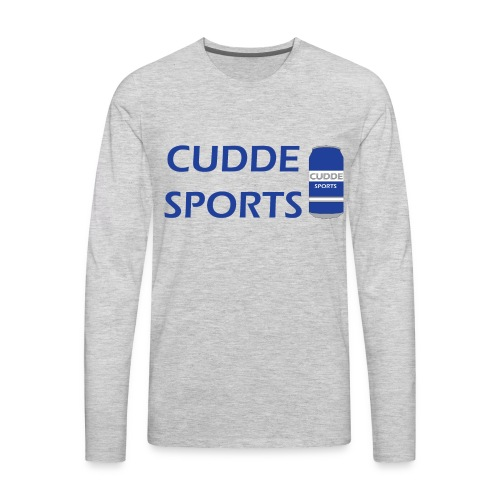 cudde sports t shirt logo - Men's Premium Long Sleeve T-Shirt