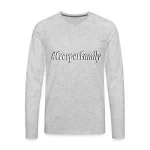 #CreeperFamily logo - Men's Premium Long Sleeve T-Shirt