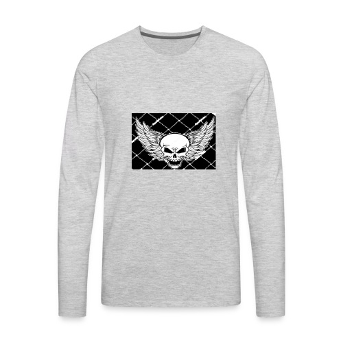angel skull - Men's Premium Long Sleeve T-Shirt