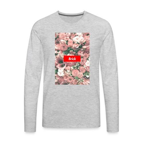 Brick Flowers - Men's Premium Long Sleeve T-Shirt
