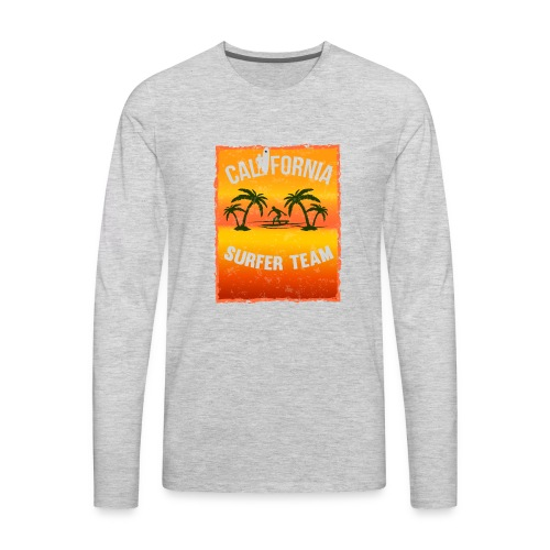 california surfer - Men's Premium Long Sleeve T-Shirt