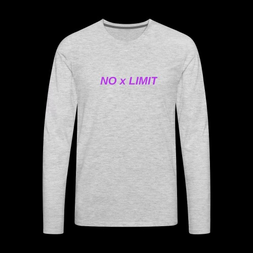 No x Limit - Men's Premium Long Sleeve T-Shirt