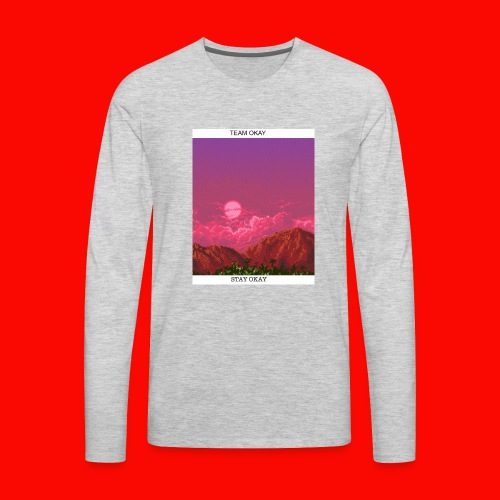 TEAM OKAY 8-bit - Men's Premium Long Sleeve T-Shirt