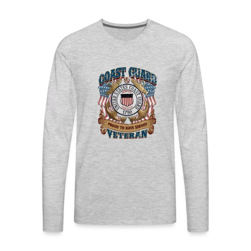 US COAST GUARD PROUD TO HAVE SERVED VETERAN - Men's Premium Long Sleeve T-Shirt