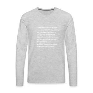 First Amendment - Men's Premium Long Sleeve T-Shirt