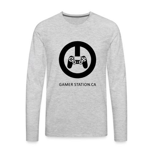 GamerStation.ca logo - Men's Premium Long Sleeve T-Shirt