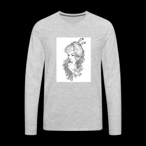 Geisha girl - Men's Premium Long Sleeve T-Shirt