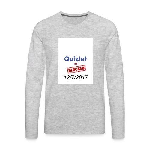 Quizlet Blocked - Men's Premium Long Sleeve T-Shirt