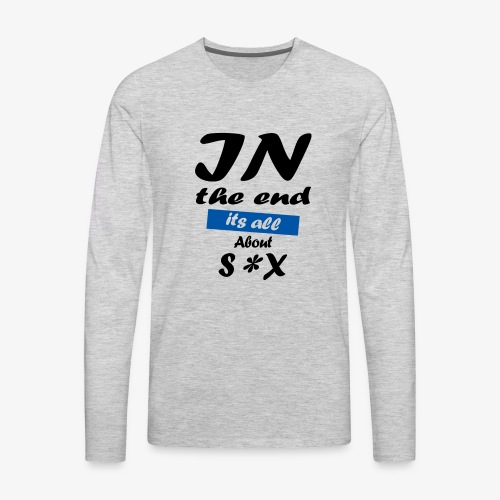 Typography - Men's Premium Long Sleeve T-Shirt