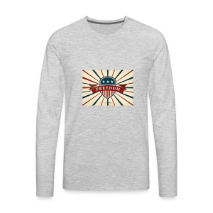vector retro freedom illustration - Men's Premium Long Sleeve T-Shirt