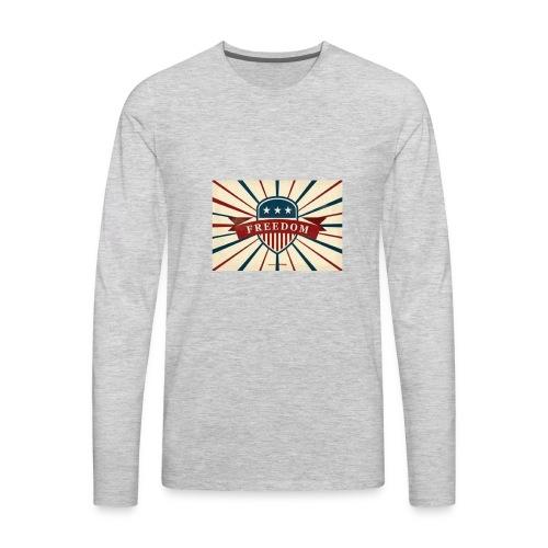 vector retro freedom illustration - Men's Premium Long Sleeve T-Shirt