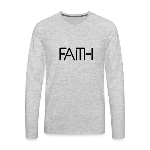 Faith tshirt - Men's Premium Long Sleeve T-Shirt