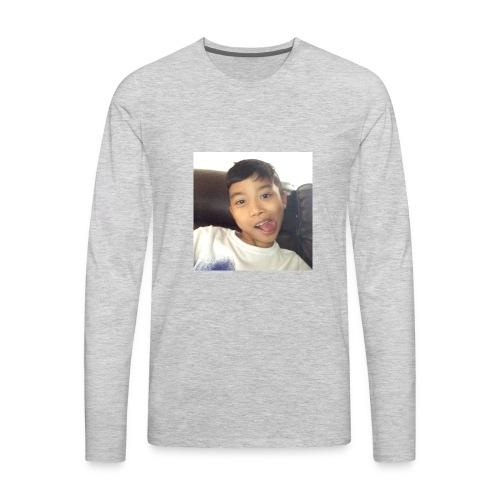 Jahziel Ona Fan Shirt (Face) - Men's Premium Long Sleeve T-Shirt