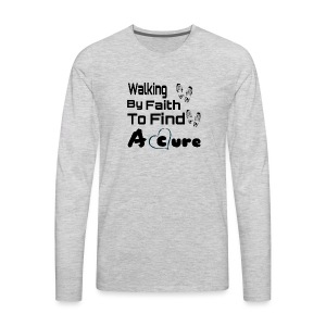 Walking By Faith Lupus Awareness Graphic Tee - Men's Premium Long Sleeve T-Shirt
