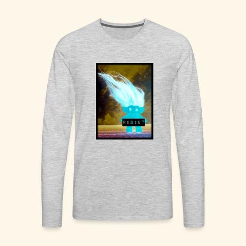 Introverted RESIST troll - Men's Premium Long Sleeve T-Shirt