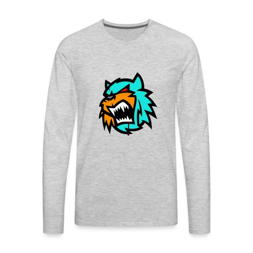 Bob cat logo Neutron - Men's Premium Long Sleeve T-Shirt