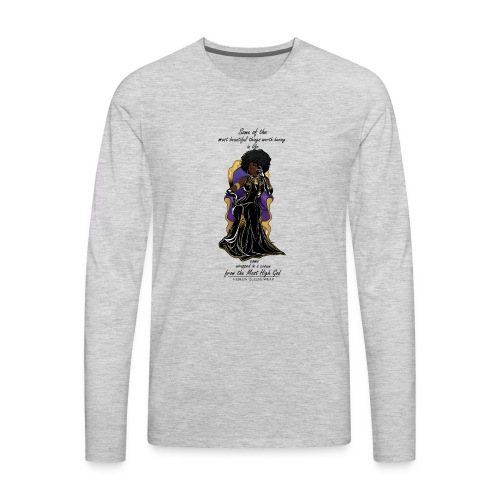 Hebrew queen readytoprint - Men's Premium Long Sleeve T-Shirt
