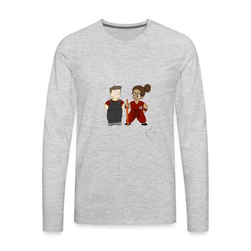 Goku style couple - Men's Premium Long Sleeve T-Shirt