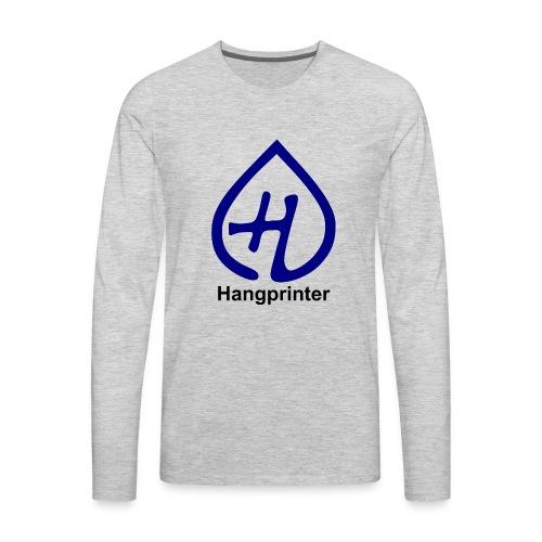 Hangprinter Logo and Text - Men's Premium Long Sleeve T-Shirt