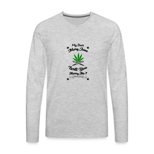 Mary Jane Weed 420 Marijuana - Men's Premium Long Sleeve T-Shirt