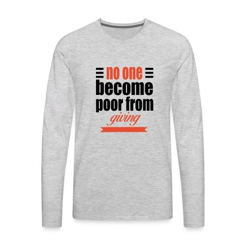 no one become - Men's Premium Long Sleeve T-Shirt