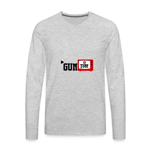 guntube larger logo - Men's Premium Long Sleeve T-Shirt