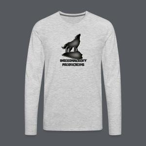 Wolf Clear - Men's Premium Long Sleeve T-Shirt