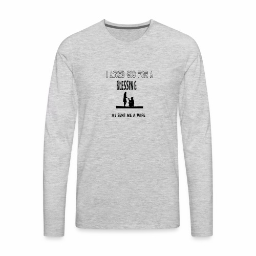iasked god2 - Men's Premium Long Sleeve T-Shirt