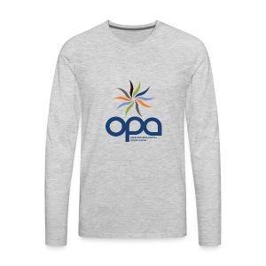 Long-sleeve t-shirt with full color OPA logo - Men's Premium Long Sleeve T-Shirt