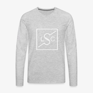Logo White Print - Men's Premium Long Sleeve T-Shirt